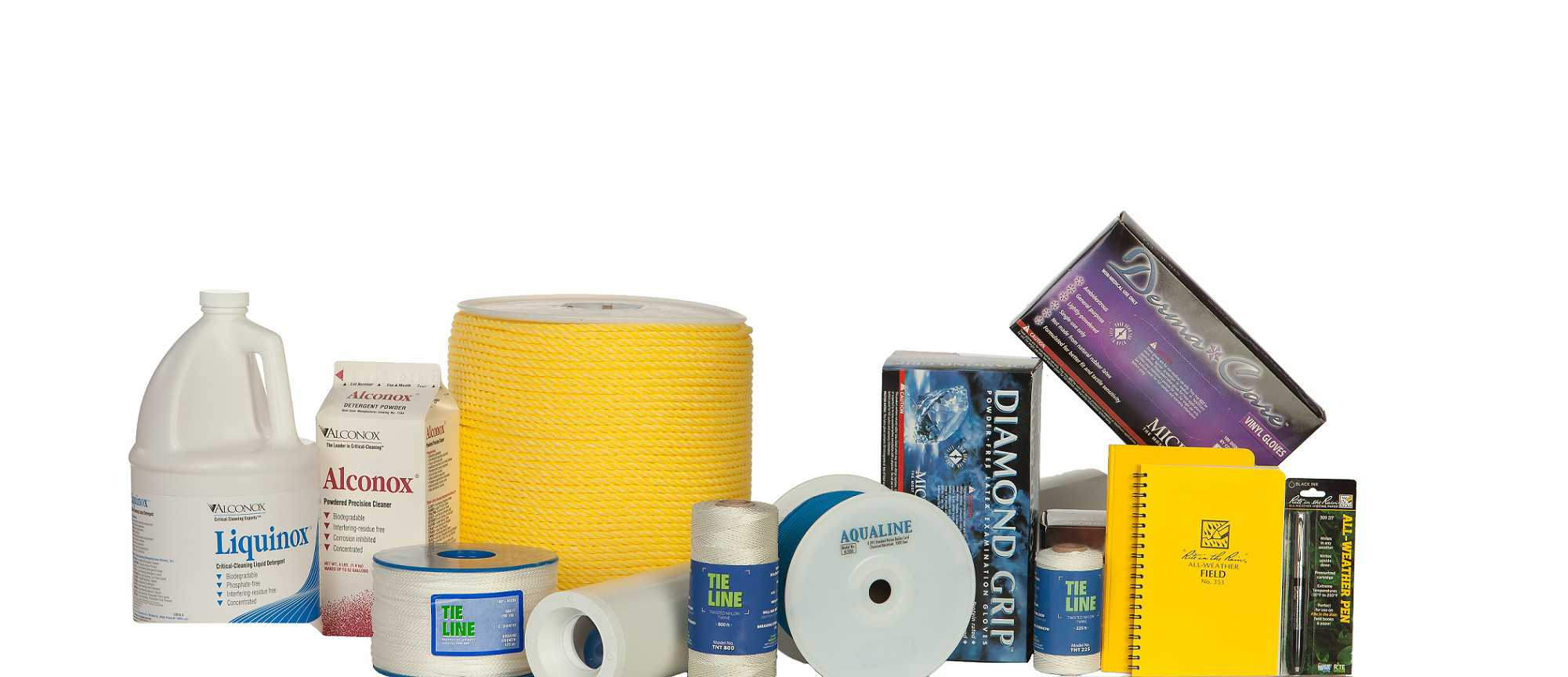 Cordage, Gloves & Cleaning Supplies