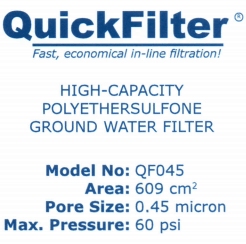 QuickFilter Specifications