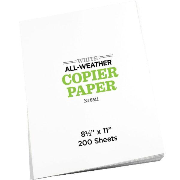 Waterproof Copier Sheets